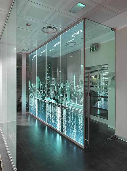 3D LASER ENGRAVED CURTAIN WALL 2