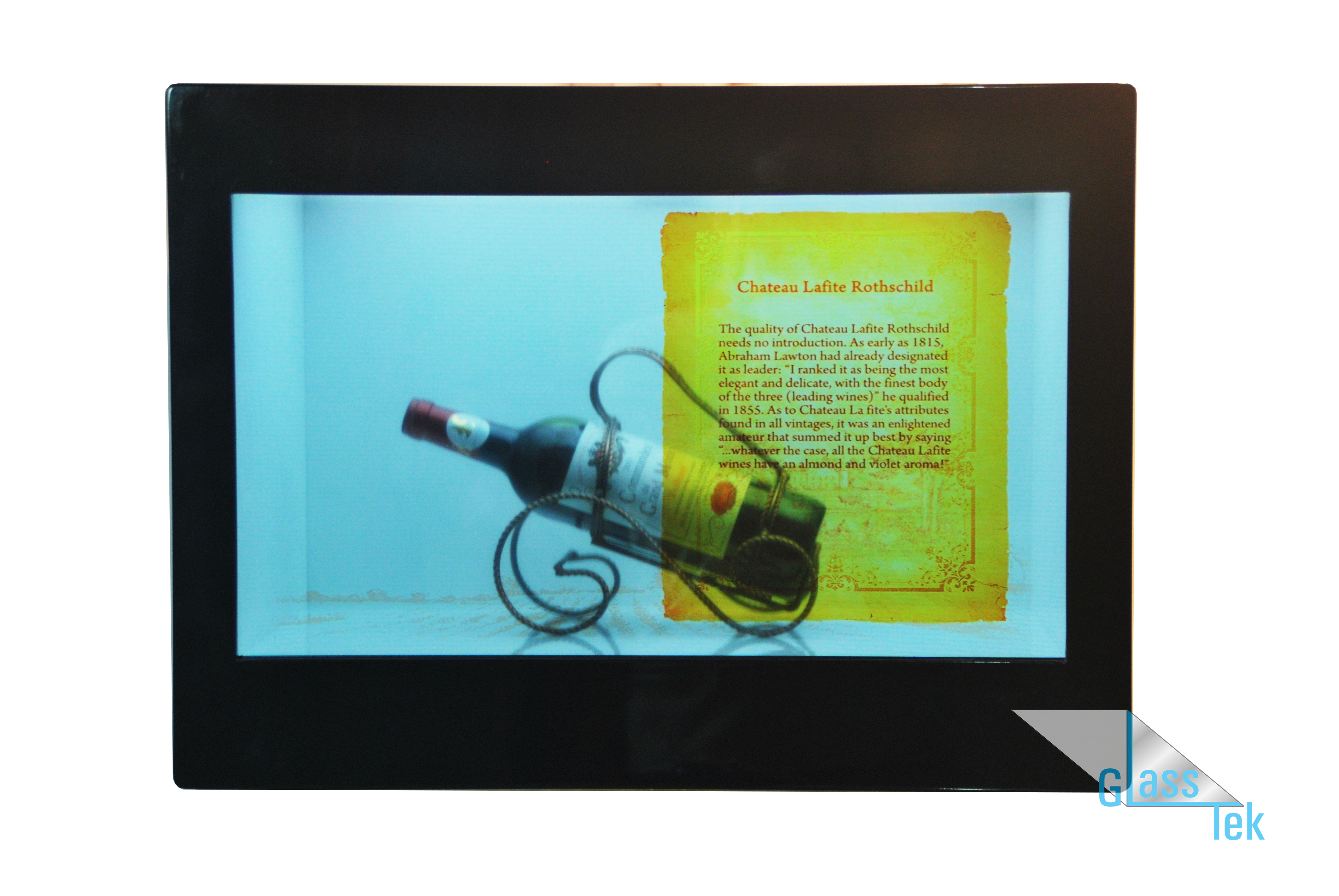 Big Black Box with Wine Display