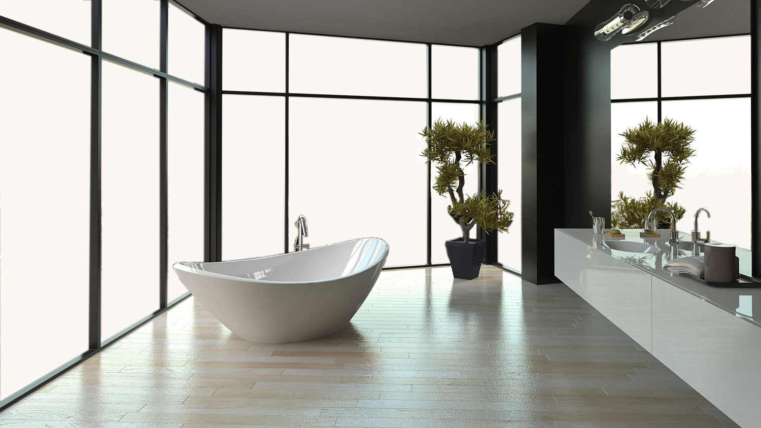 SMART GLASS BATH 2 OFF